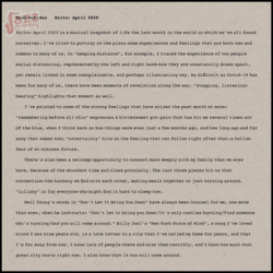 Suite April 2020 - Brad Mehldau